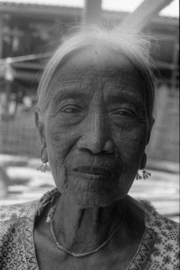 Tattooed Faced Woman in Chin State, Myanmar